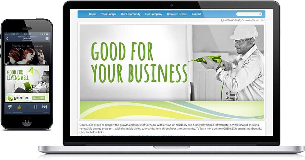 Grenlec Energy Website Design and Mobile Marketing Grenlec Energy Outdoor Campaign Schifino Lee Tampa Florida