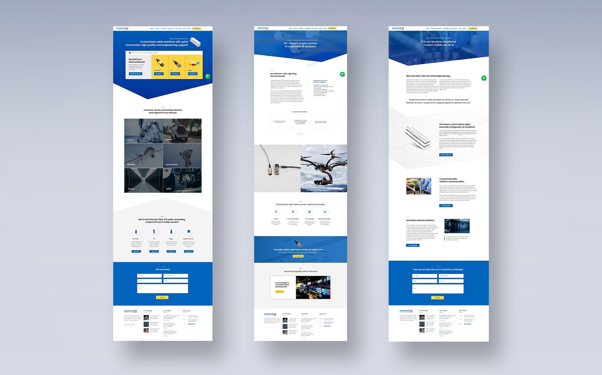 custom cable web mockups