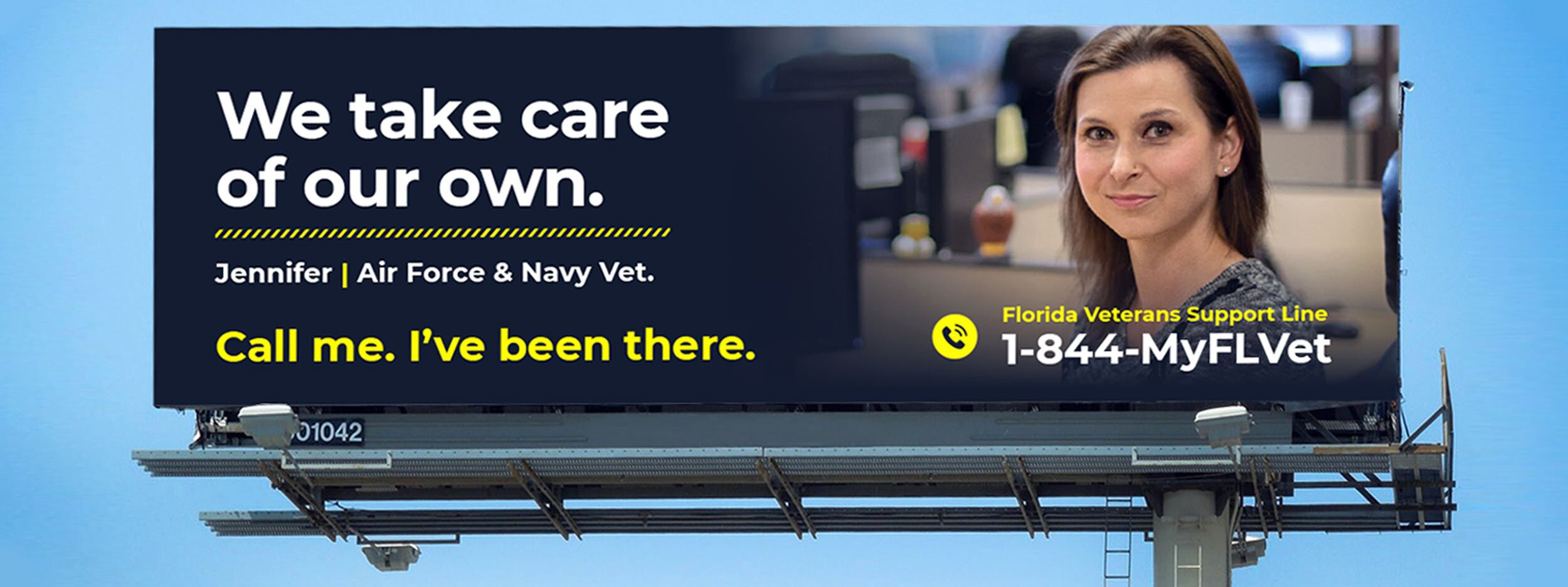Florida Veterans Support Line Billboard